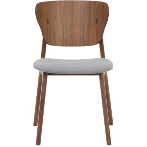 Emi Walnut and Andorra Wool Dining Chair