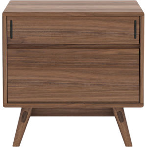 Haru Walnut Left Facing Nightstand