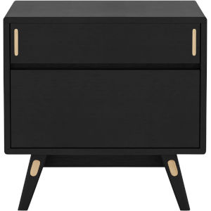 Haru Black Oak Right Facing Nightstand