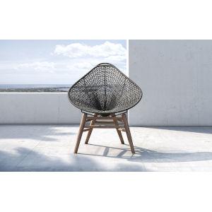 Lucida Dark Gray Cord Outdoor Accent Chair