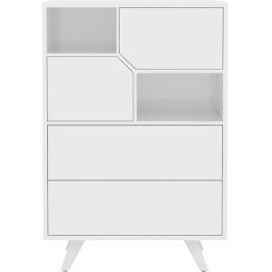 Rivington Glossy White 31-Inch Dresser