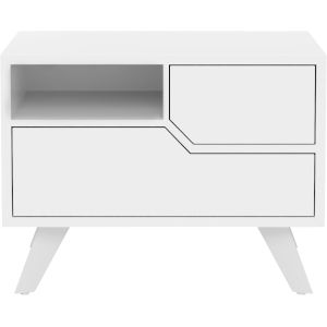 Rivington Glossy White 19-Inch Right-Facing Nightstand