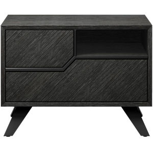 Rivington Gray Oak 19-Inch Left-Facing Nightstand