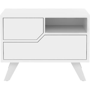 Rivington Glossy White 19-Inch Left-Facing Nightstand