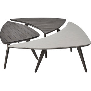 Triplica Dark Eucalyptus Outdoor Bunching Table