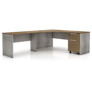 Broome Latte Walnut 95-Inch Left Corner Desk