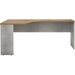 Broome Latte Walnut 71-Inch Right Corner Desk