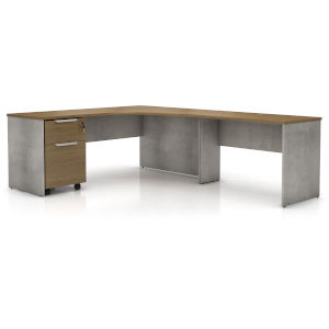 Broome Latte Walnut 95-Inch Right Corner Desk