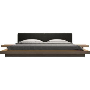 Worth Soft Carbon Fabric King Bed