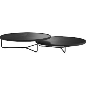 Adelphi Black Crocco Reclaimed Leather Coffee Table