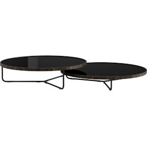 Adelphi Black Glass Coffee Table