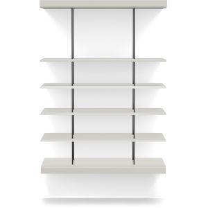 Bayard Chateau Gray 40-Inch Bookshelf