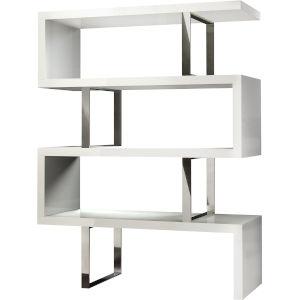Pearl Glossy White Bookcase