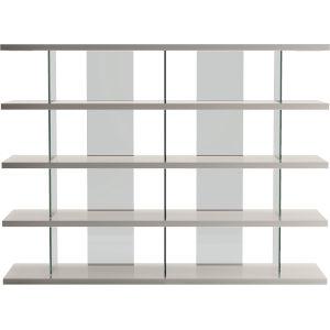Beekman Glossy Chateau Gray Bookcase