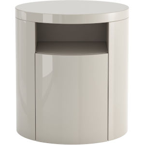 Mulberry Glossy Chateau Gray Nightstand