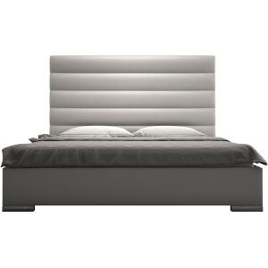 Prince Pearl Gray Eco Leather Full Bed