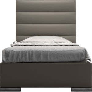 Prince Castle Gray Eco Leather Twin Bed