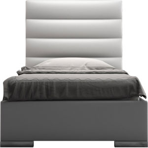 Prince White Eco Leather Twin Bed
