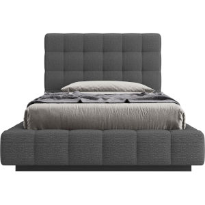Thompson Carbon Gray Fabric Twin Bed