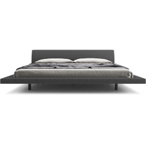 Jane Carbon Gray Fabric Queen Bed
