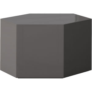 Centre Glossy Dark Gull Gray 10-Inch Coffee Table