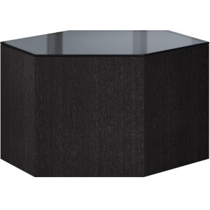 Centre Gray Oak and Asphalt Glass 10-Inch Coffee Table