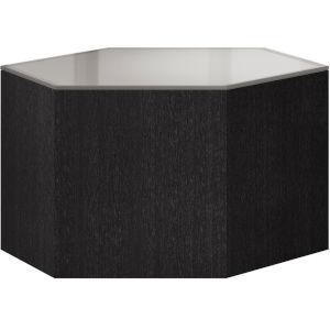 Centre Gray Oak and Silver Gray Glass 10-Inch Coffee Table
