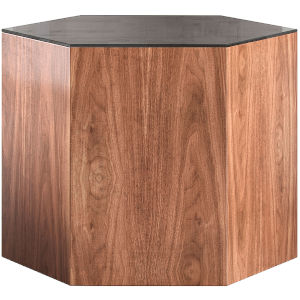 Centre Walnut and Black Glass 14-Inch Coffee Table