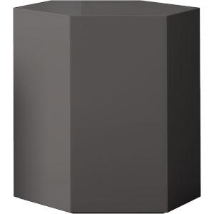 Centre Glossy Dark Gull Gray 18-Inch Coffee Table