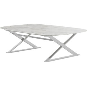 Irving White Marble Coffee Table