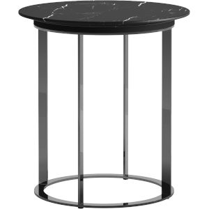 Irving Black Marble Side Table