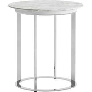Irving White Marble Side Table