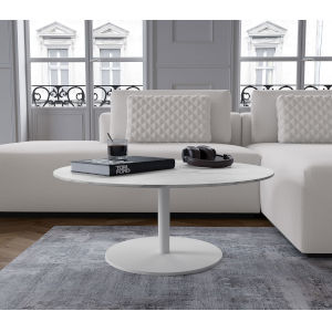 Bleecker White Marble Coffee Table