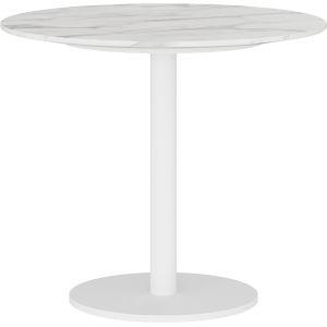 Bleecker White Marble Side Table