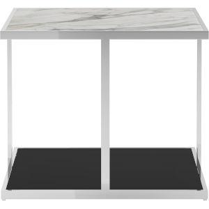 Ann White Marble Side Table