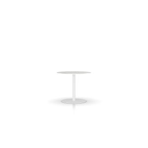Bleecker White Marble 39-Inch Dining Table