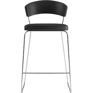 Delancey Black Eco Leather 41-Inch Barstool