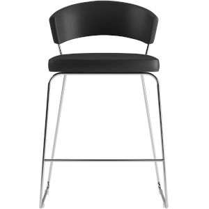 Delancey Black Eco Leather 36-Inch Counter Stool