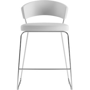 Delancey White Eco Leather 36-Inch Counter Stool