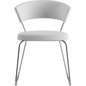 Delancey White Eco Leather Dining Chair