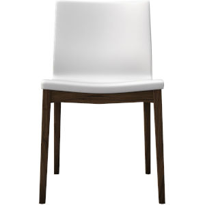 Enna White Eco Leather Dining Chair