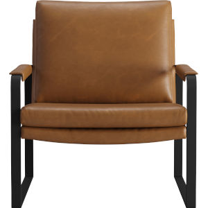 Charles Cognac Vintage Leather Lounge Chair