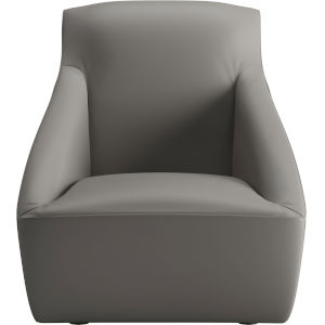 Forsyth Warm Gray Leather Lounge Chair