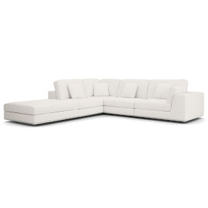 Perry Chalk Fabric One Arm Open Right-Facing Corner Sofa