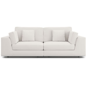 Perry Chalk Fabric Sectional Two Seat Sofa