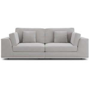 Perry Gris Fabric Sectional Two Seat Sofa