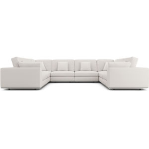 Perry Chalk Fabric Sectional U-Sofa