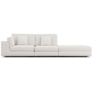 Perry Chalk Fabric Sectional Open Sofa