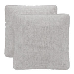 Perry Gris Fabric Throw Pillow, Set of Two