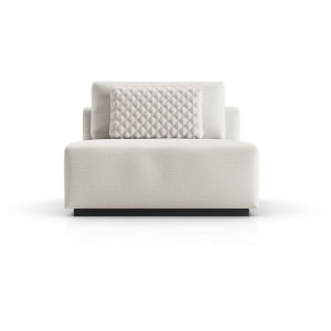 Spruce Chalk Fabric Modular Armless Chair